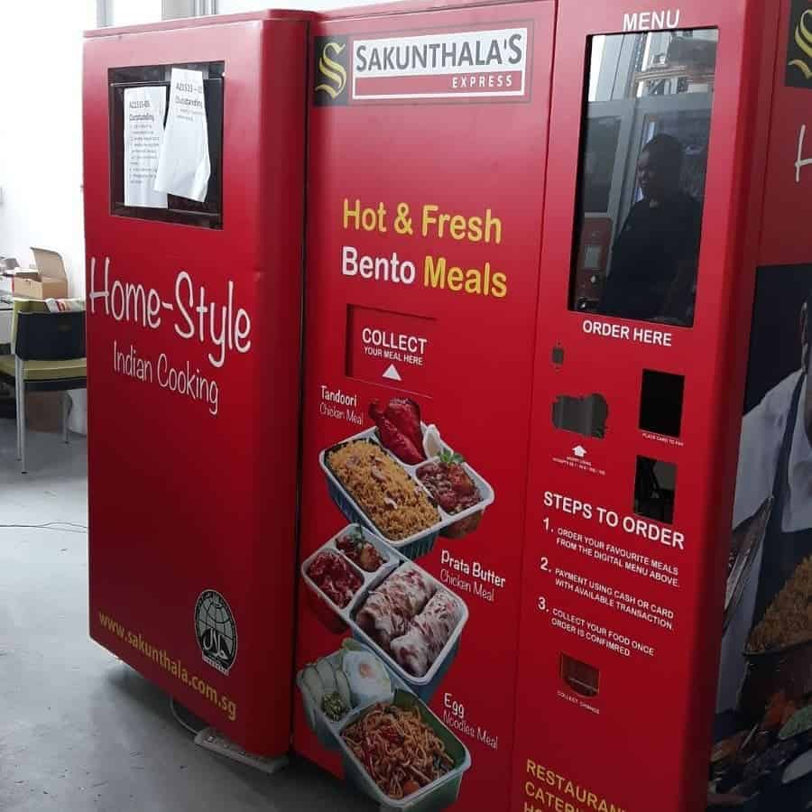 Vending machine wrap for Sakuntalas