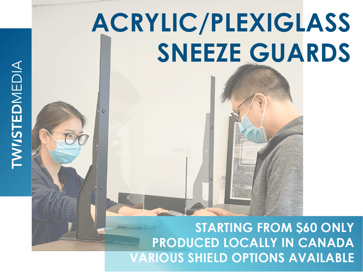 Sneeze Guard Acrylic Clear 600W x 400H safety shields with stands FREE SHIP