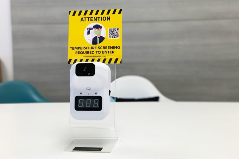 Digital Temperature Scanne with acrylic stand