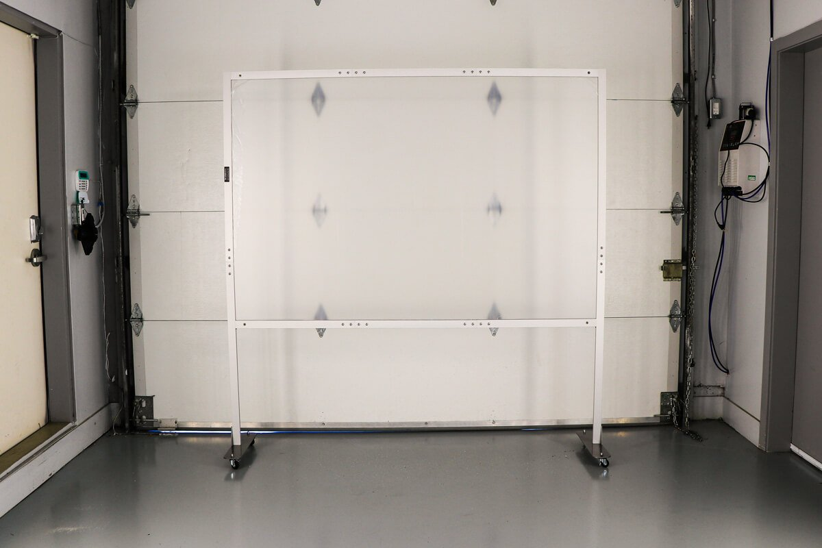 Floor Stand Sneeze Guard- Plexiglass Guard