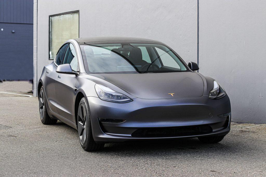 3M Satin Dark Grey Tesla Model 3