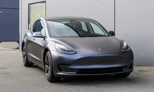 3M Satin Dark Grey Tesla Model 3