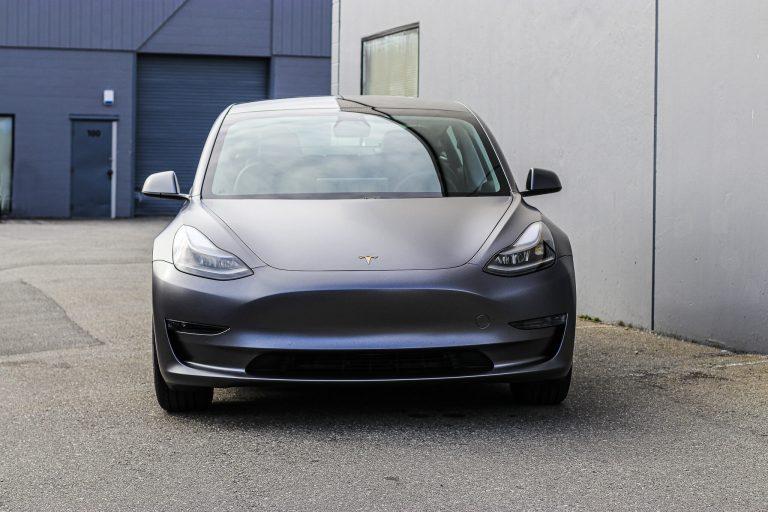 Tesla Model 3 Satin Dark Grey Vancouver