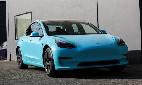Tesla Model 3 Tiffany Blue Wrap Vancouver