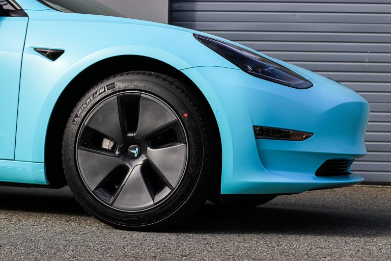 Tesla Model 3 Tiffany Blue / Satin Key west Wrap Vancouver