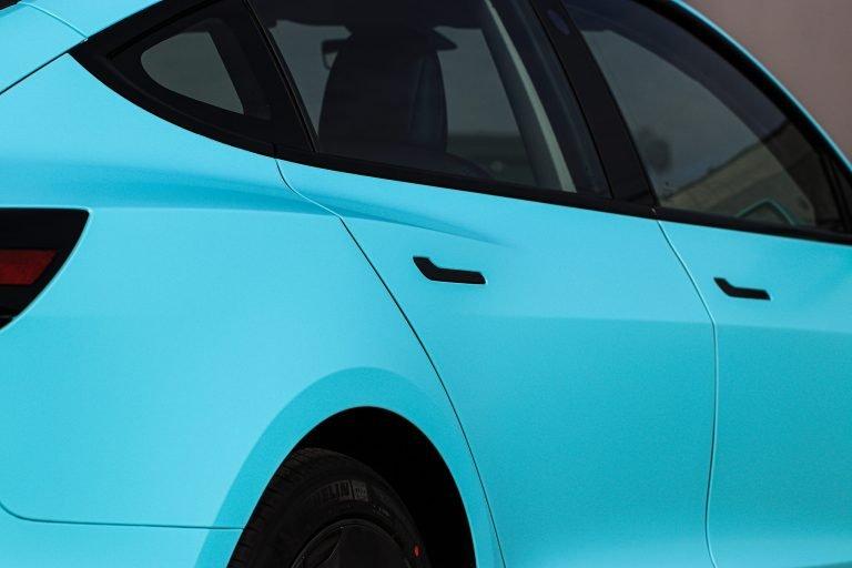 Tesla Model 3 Tiffany Blue Wrap Vancouver