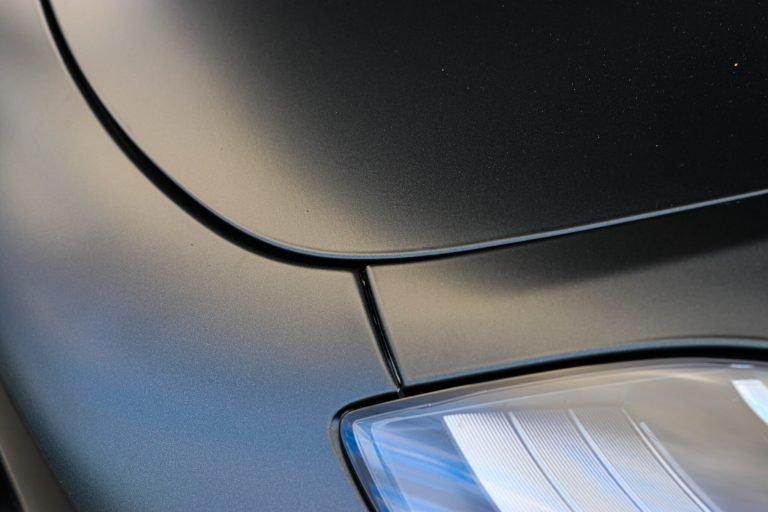 Tesla Model 3 vinyl car wrap matte dark grey