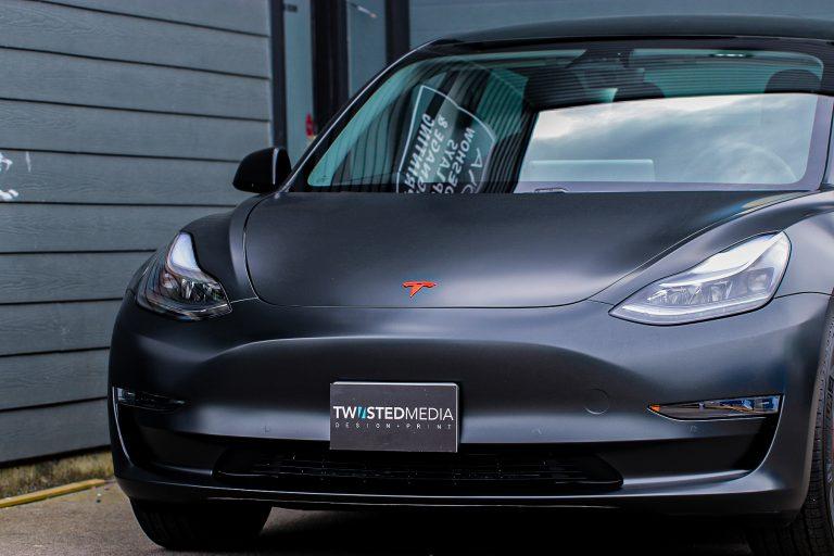 Tesla Model 3 vinyl car wrap Burnaby