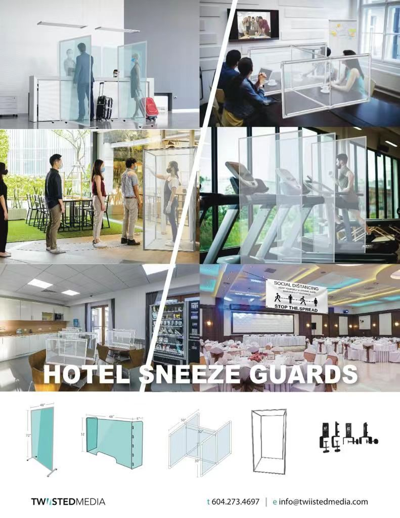 Sneeze Guards Acrylic Shields_vancouver