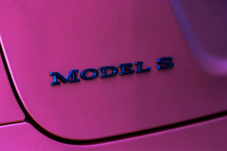 Tesla Model S - Diamond Red Vinyl Car Wrap