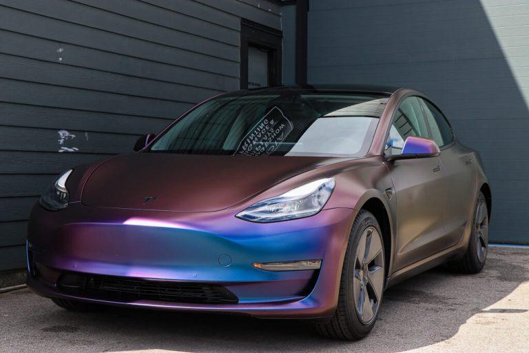 Tesla Model 3 Color Shift Vinyl Wrap
