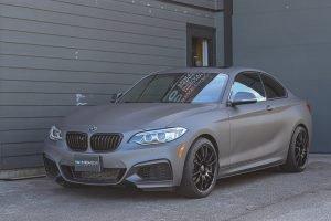 BMW Matte Metallic Charcoal Vinyl Wrap